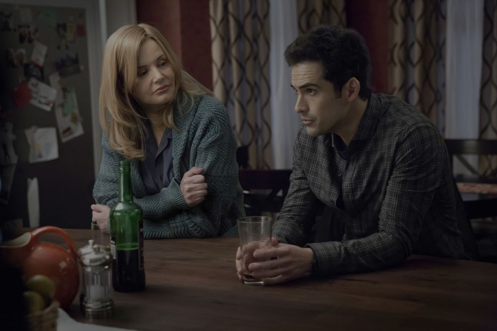 THE EXORCIST:  L-R:  Geena Davis and Alfonso Herrera in THE EXORCIST coming soon to FOX.  ©2016 Fox Broadcasting Co.  Cr:  Chuck Hodes/FOX