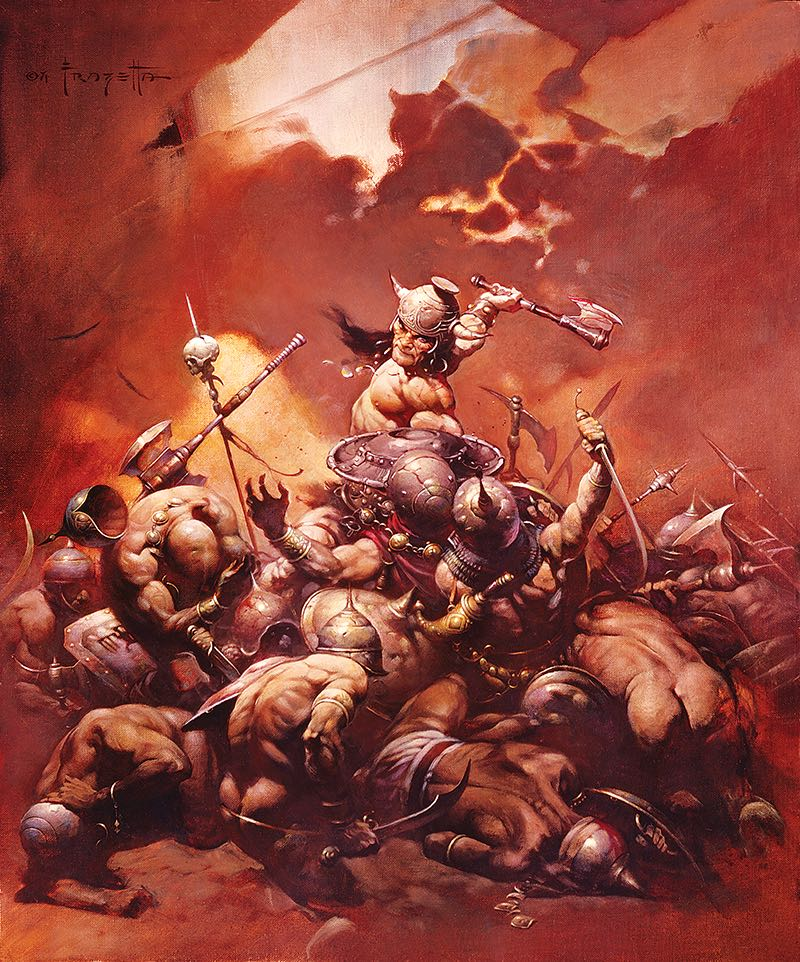"Frank Frazetta 'The Destroyer' Lithograph $100.00 16"" x 20"" lithograph. Officially approved by the Frazetta Estate. Signed and numbered by Frank Frazetta, Jr. Limited Edition of 100 1 per person per day"