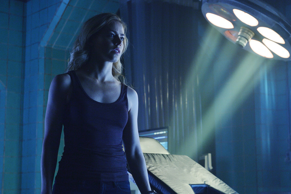 "12 MONKEYS -- ""Resurrection"" Episode 211 -- Pictured: Amanda Schull as Cassandra Railly -- (Photo by: Ben Mark Holzberg/Syfy)"