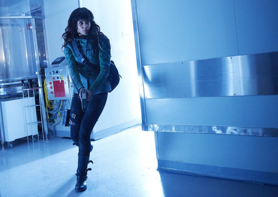 "KILLJOYS -- ""Dutch and the Real Girl"" Episode 201 -- Pictured: Hannah John-Kamen as Dutch -- (Photo by: Steve Wilkie/Syfy/Killjoys II Productions Limited)"