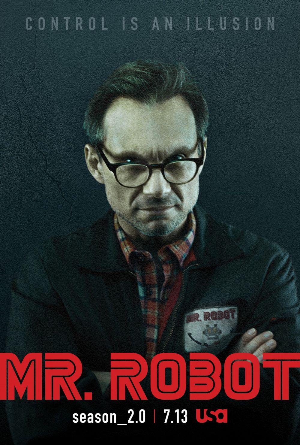 Mr Robot Season 2 Poster USA Network Christian Slater