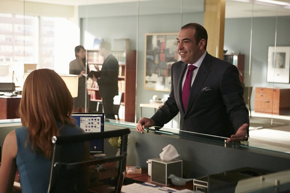 "SUITS -- ""Turn"" Episode 604 -- Pictured: Rick Hoffman as Louis Litt -- (Photo by: Ian Watson/USA Network)"