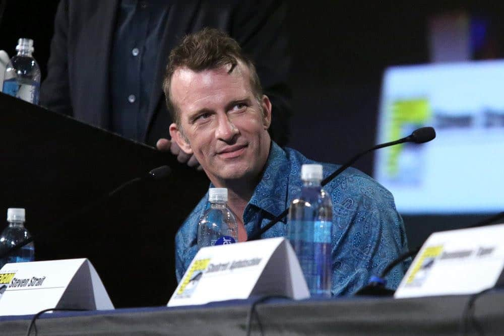 "COMIC-CON INTERNATIONAL: SAN DIEGO -- ""The Expanse Panel"" -- Pictured: Thomas Jane -- (Photo by: Evans Vestal Ward/Syfy)"