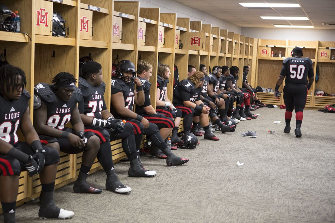 Scooba, Mississippi - Netflix will premiere an original six-part documentary series Last Chance U on July 29, 2016 directed by Greg Whiteley. Last Chance U is a character driven, behind-the-scenes look at the world of college football. Last Chance U follows a group of young men training to become the future stars of the NFL. The football players are the latest recruits to Eastern Mississippi Community College (EMCC), an undefeated team with 3 consecutive National Championships under their belt. (Photo by Alan Markfield/Netflix)