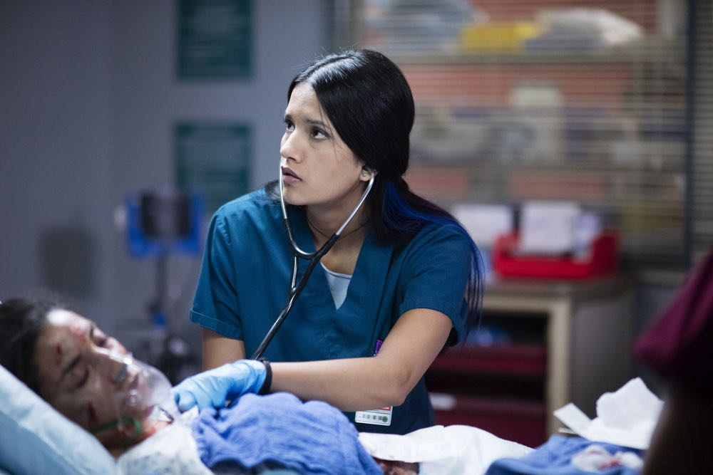 """THE NIGHT SHIFT-- """"Emergent"""" Episode 312 -- Pictured: Tanaya Beatty as Dr. Shannon Rivera -- (Photo by: Cathy Kanavy/NBC)"""