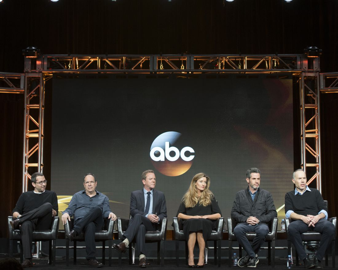 """TCA SUMMER PRESS TOUR 2016 - The cast and producers of ABC's """"Designated Survivor"""" at Disney   ABC Television Group's Summer Press Tour 2016 at The Beverly Hilton in Beverly Hills, California. (ABC/Image Group LA)"""