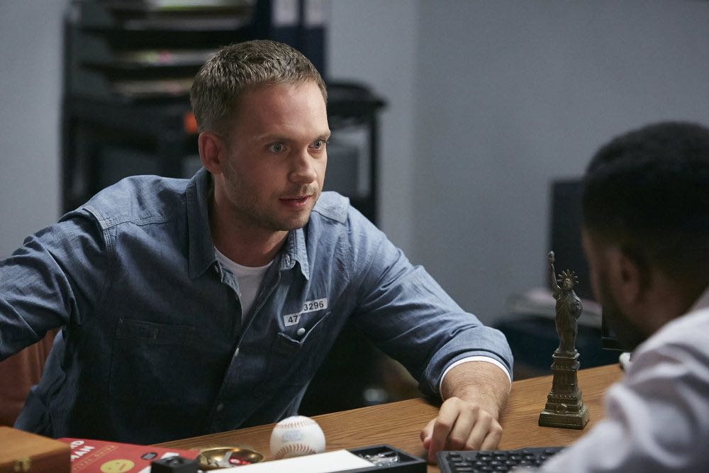 "SUITS -- ""Trust"" Episode 605 -- Pictured: Patrick J. Adams as Michael Ross -- (Photo by: Ian Watson/USA Network)"