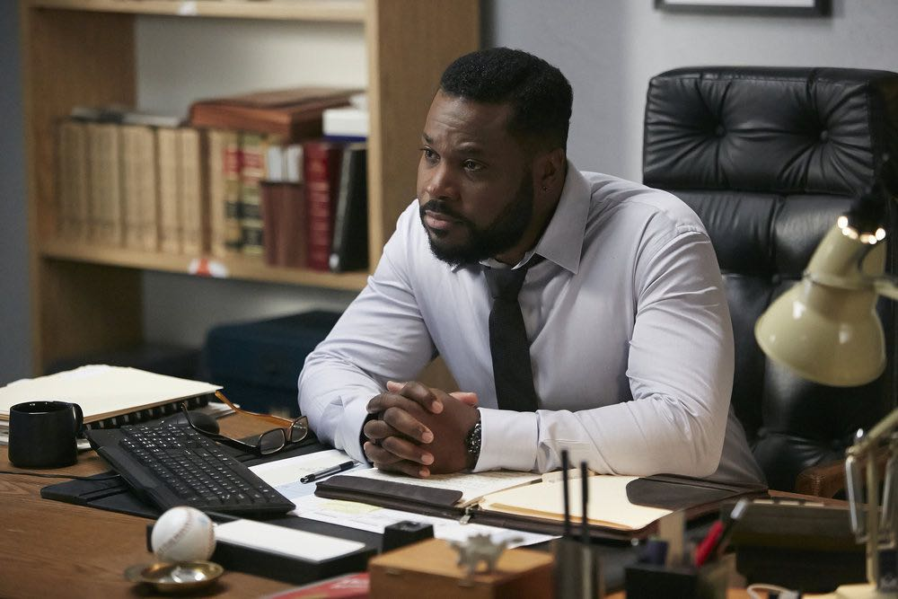 "SUITS -- ""Trust"" Episode 605 -- Pictured: Malcolm-Jamal Warner as Julius Rowe -- (Photo by: Ian Watson/USA Network)"