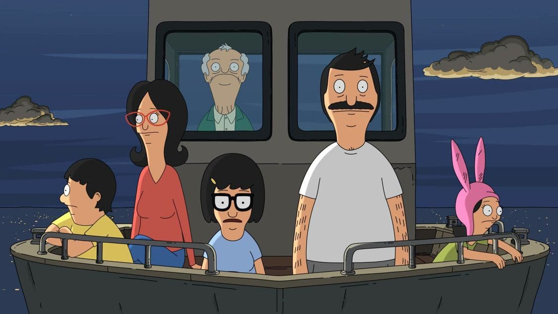 """BOB'S BURGERS: Teddy organizes a day trip on his newly refurbished boat in an effort to impress his ex-wife, Denise. Meanwhile, Tina attempts to show that she is responsible enough for a cell phone by taking care of Bob's prized eraser from the restaurant in the """"Sea Me Now"""" episode of BOB'S BURGERS airing Sunday, Sept. 9 (7:30-8:00 PM ET/PT) on FOX. BOB'S BURGERS ™ and © 2016 TCFFC ALL RIGHTS RESERVED. CR: FOX"""
