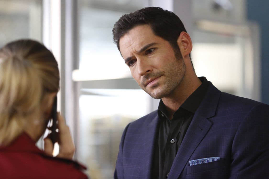 "LUCIFER: Tom Ellis in the ""Liar, Liar, Slutty Dress on Fire"" episode of LUCIFER airing Monday, Oct. 3 (9:01-10:00 PM ET/PT) on FOX.  Cr: Bettina Strauss/FOX."