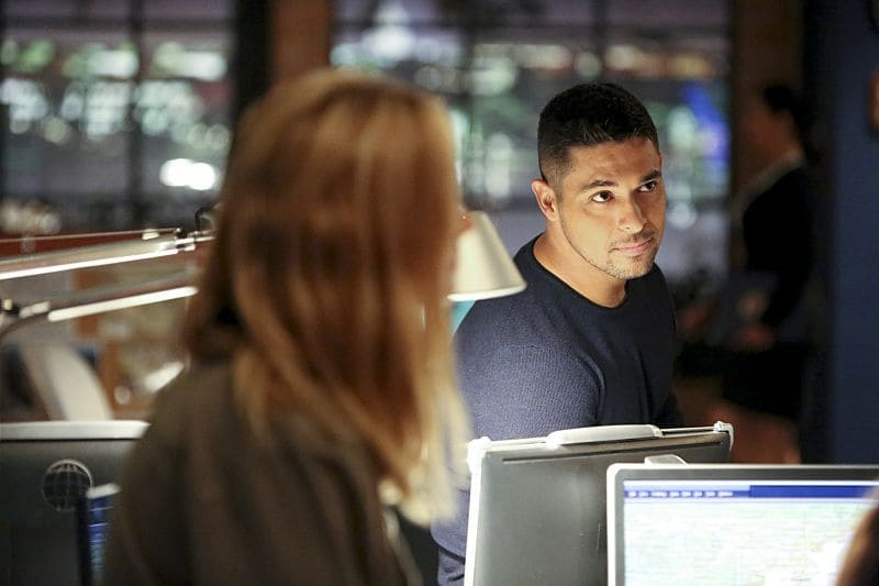 """Being Bad"" -- NCIS uncovers a bomb plot and a long-running theft ring while investigating a death at a Quantico reunion. Also Torres and Quinn adjust to life on Gibbs' team, including new seating arrangements in the squad room, on NCIS, Tuesday, Sept. 27 (8:00-9:00, ET/PT), on the CBS Television Network. Pictured: Wilmer Valderrama. Photo: Patrick McElhenney/CBS ©2016 CBS Broadcasting, Inc. All Rights Reserved"