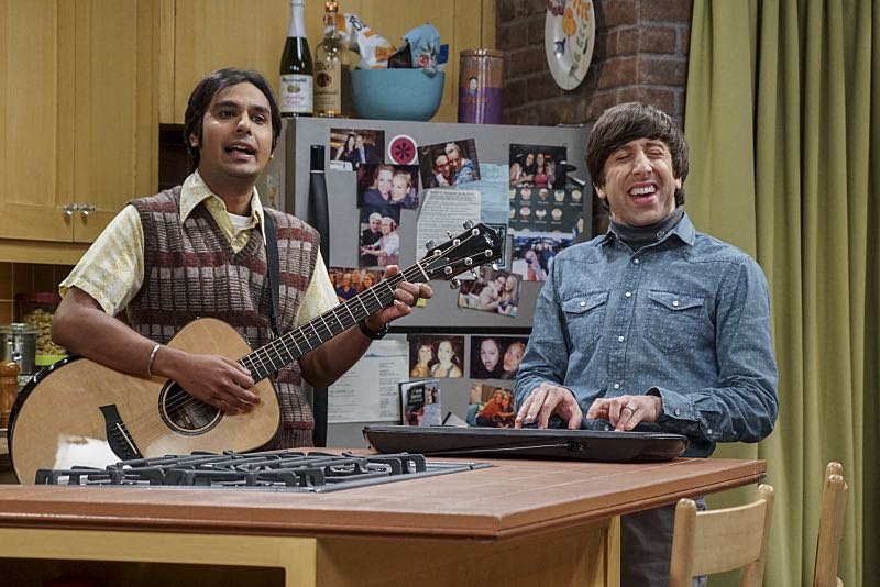 "The Veracity Elasticity"" -- Pictured: Rajesh Koothrappali (Kunal Nayyar) and Howard Wolowitz (Simon Helberg). In order to continue living with Sheldon, Amy lies to him about repairs being made to her apartment and they host an ""on location"" episode of ""Fun With Flags"" in Penny's apartment. Also, Leonard lets Penny decorate Sheldon's old room after he learns that she has been secretly moving Leonard's collectibles into storage, on THE BIG BANG THEORY, Thursday, Nov. 3 (8:00-8:31 PM, ET/PT), on the CBS Television Network. Photo: Monty Brinton/CBS ©2016 CBS Broadcasting, Inc. All Rights Reserved."