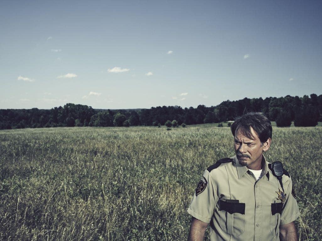 JD Evermore as Sheriff Carl Daggett - Rectify _ Season 4, Gallery - Photo Credit: James Minchin/Sundance TV