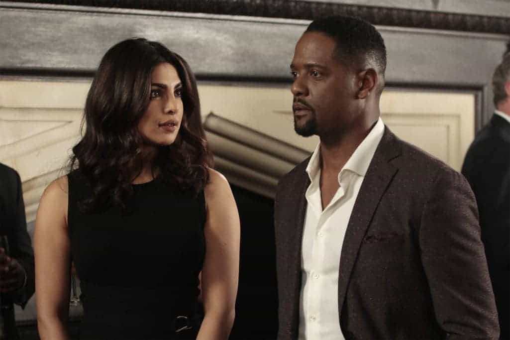 """QUANTICO - """"KMFORGET"""" - At the Farm, Harry is still suspicious of Alex and Ryan, and he's determined to learn more about their plan, while Leon is recruited for a special assignment by Owen. Meanwhile, in the future, Alex continues to run from the terrorists but faces her toughest challenge yet when the terrorists corner her on """"Quantico,"""" airing SUNDAY, OCTOBER 30 (10:00-11:00 p.m. EDT), on the ABC Television Network. (ABC/Giovanni Rufino) PRIYANKA CHOPRA, BLAIR UNDERWOOD"""