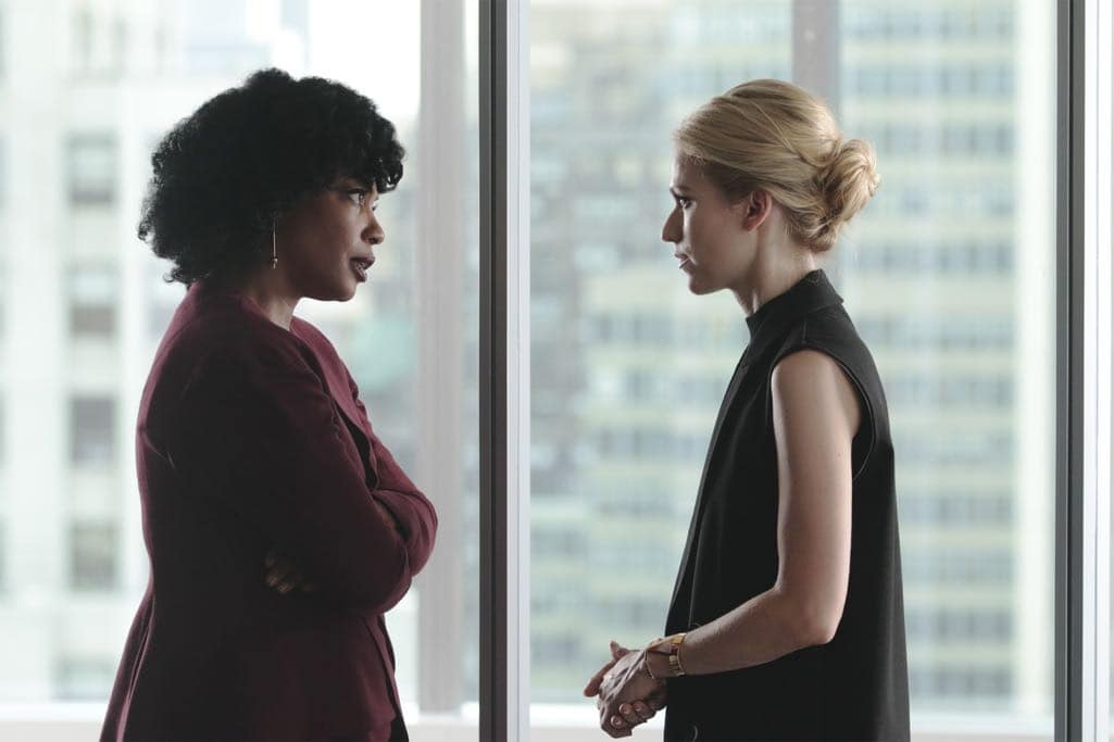 """QUANTICO - """"KMFORGET"""" - At the Farm, Harry is still suspicious of Alex and Ryan, and he's determined to learn more about their plan, while Leon is recruited for a special assignment by Owen. Meanwhile, in the future, Alex continues to run from the terrorists but faces her toughest challenge yet when the terrorists corner her on """"Quantico,"""" airing SUNDAY, OCTOBER 30 (10:00-11:00 p.m. EDT), on the ABC Television Network. (ABC/Giovanni Rufino) AUNJANUE ELLIS, JOHANNA BRADDY"""