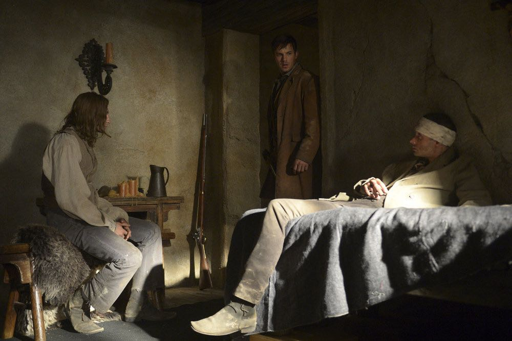 "TIMELESS -- ""The Alamo"" Episode 104 -- Pictured: Matt Lanter as Wyatt Logan -- (Photo by: Sergei Bachlakov/NBC)"