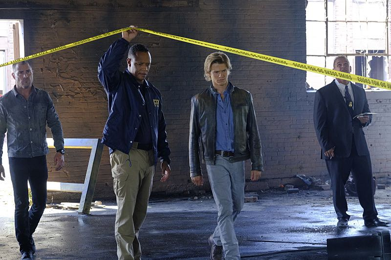 """""""Wrench"""" -- Using only a wrench and rope, MacGyver must diffuse a bomb set near the United Nations by his old nemesis, """"The Ghost"""" (Niko Nicotera), a notorious criminal whose work killed his mentor, and track him down before he strikes again, on MACGYVER, Friday, Oct. 28 (8:00-9:00 PM, ET/PT) on the CBS Television Network. Pictured: George Eads, Lucas Till. Photo: Guy D'Alema/CBS ©2016 CBS Broadcasting, Inc. All Rights Reserved"""
