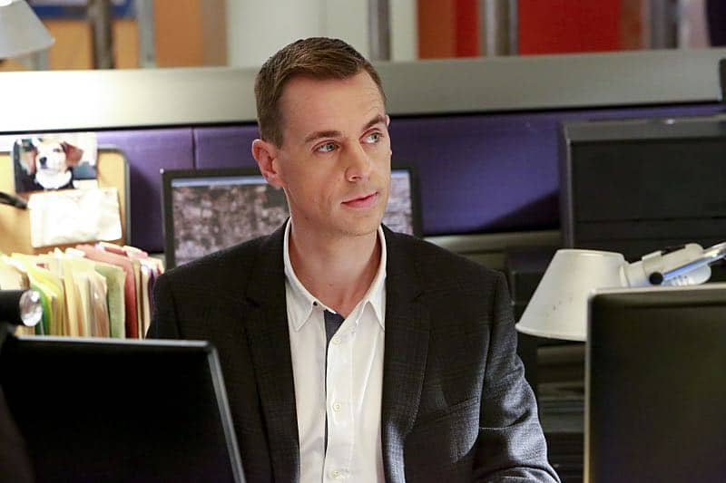 """Shell Game"" -- After a kidnapped petty officer escapes her captor, NCIS uncovers a connection to her missing husband. Also, Abby knits the NCIS newbies personalized gifts, on NCIS, Tuesday, Oct. 25 (8:00-9:00 PM, ET/PT), on the CBS Television Network. Pictured: Sean Murray. Photo: Bill Inoshita/CBS ©2016 CBS Broadcasting, Inc. All Rights Reserved"