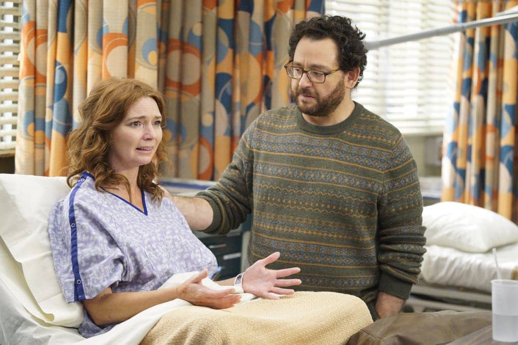 "GREY'S ANATOMY - ""Roar"" - A familiar face returns to Grey Sloan, throwing many of the doctors for a loop. With Catherine putting on the pressure, Bailey has to make a decision about Alex while a tough ER case makes Amelia's bad day even worse, on ""Grey's Anatomy,"" THURSDAY, OCTOBER 27 (8:00-9:00 p.m. EDT), on the ABC Television Network. (ABC/Jennifer Clasen) BRIDGID BRANNAGH"