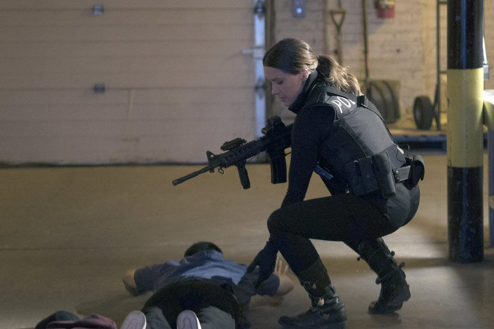 "CHICAGO P.D. -- ""A War Zone"" Episode 404 -- Pictured: Sophia Bush as Erin Lindsay -- (Photo by: Elizabeth Sisson/NBC)"