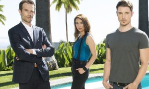 THE ARRANGEMENT -- Season: Pilot -- Pictured: (l-r) Michael Vartan, Lexa Doig, Josh Henderson, Christine Evangelista -- (Photo by: Jeff Lipsky/E! Entertainment)