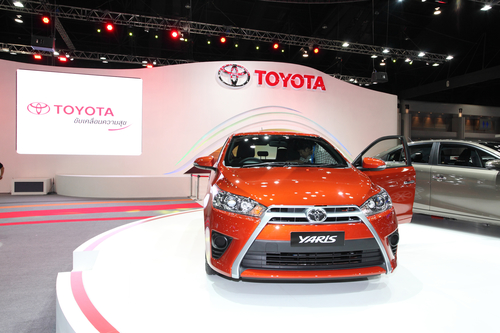 NONTHABURI - NOVEMBER 28: TOYOTA Yaris car on display at The 30t