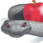 Snake_with_apple_half