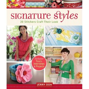 Front cover of book, Signature Styles: 20 Stitchers Craft Their Look.