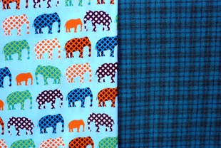 Image of Huck Finn Cap Fabric Kit - Blue Spark Wool