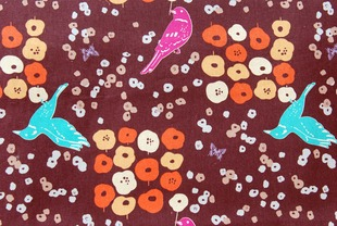 Image of Art Satchel Fabric Kit Echino Fall 2009 Brown Birds
