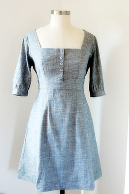 Image for Ashland Dress fabric kit - stretch chambray