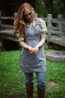 Gathering Apron Sewing Pattern Photo