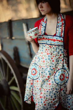 Image of Sew Liberated Lola and Lolita Apron sewing pattern for women and girls.