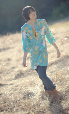 Photo of Sew Liberated Schoolhouse Tunic sewing pattern for women.