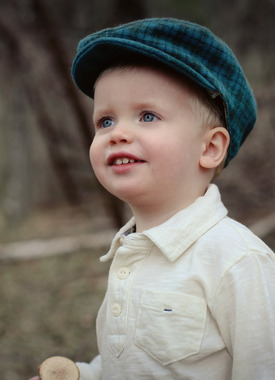 Image of the Sew Liberated Huck Finn Cap sewing pattern for boys.