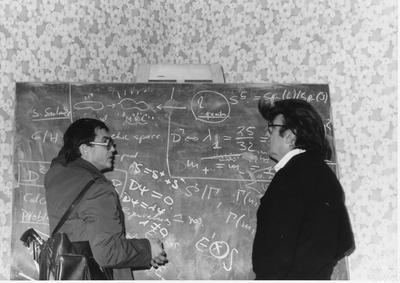 At the Conference on Differential Geometry and Global Analysis in Garwitz, Germany, in 1981. (Photo courtesy of Archives of the Mathematisches Forschungscinstitut Oberwolfach)