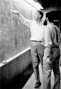 Watson with Philippe Kourilsky at CSHL in 1969. (Photo: James D. Watson Collection, Cold Spring Harbor Laboratory Archives.)