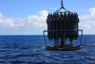 oceanographic sampler, a rosette of bottles to collect water