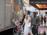 Angelina Jolie Spies in Washington Heights, Kim Cattrall Weds in Midtown, Film Sets Thrive in Manhattan