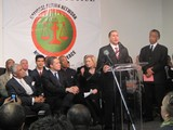 Rev. Al Sharpton Speeds Away With Harold Ford Jr., Gillibrand Left in the Dust