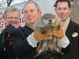 Staten Island Chuck Predicts Early Spring, Doesn't Bite Mayor Michael Bloomberg