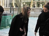 'Project Runway' Judge Nina Garcia Slips in Bryant Park