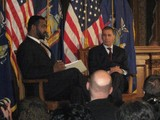David Paterson Gets Back to Work with Town Hall Meeting