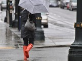 Rain and Wind Lash Manhattan as City Heads Toward March Record