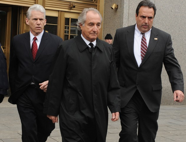 Bernie Madoff, 72, before he was placed in federal prison for swindling over $60 billion from his Manhattan firm.