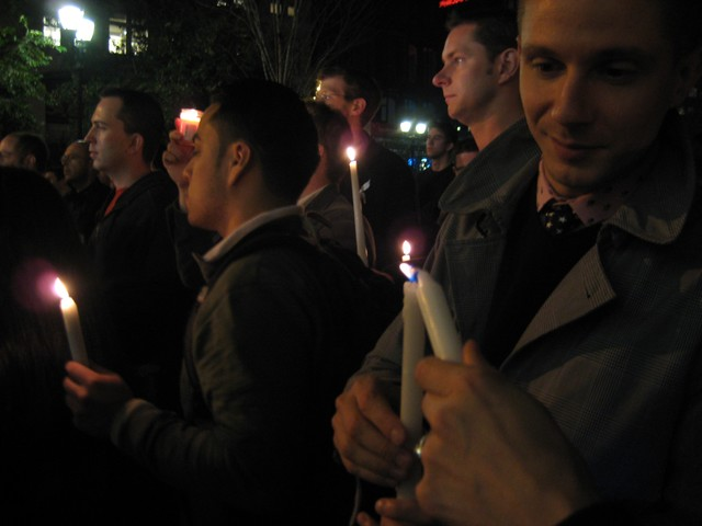 At a Union Square Vigil, Gay Couples Dare to Hope for Senate to Pass Law ...