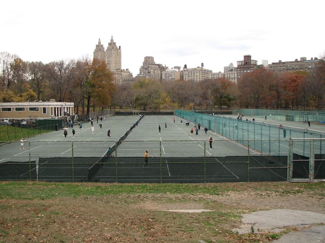 Central Park Tennis courts - no bubble