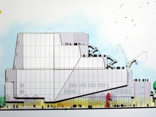 An artist's rendition for the future Whitney Museum of American Art in the Meatpacking District.