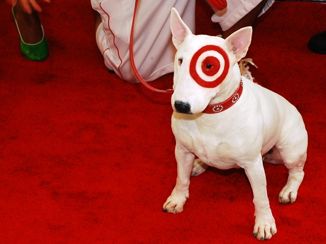 target dog. 2010 Target Dog Bullseye got a