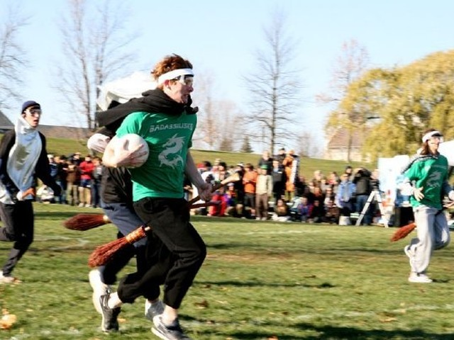 Quidditch players have to move quickly, despite having a broomstick between their legs.
